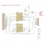 Schéma structurel du programmateur sur port parallèle pour µC Atmel