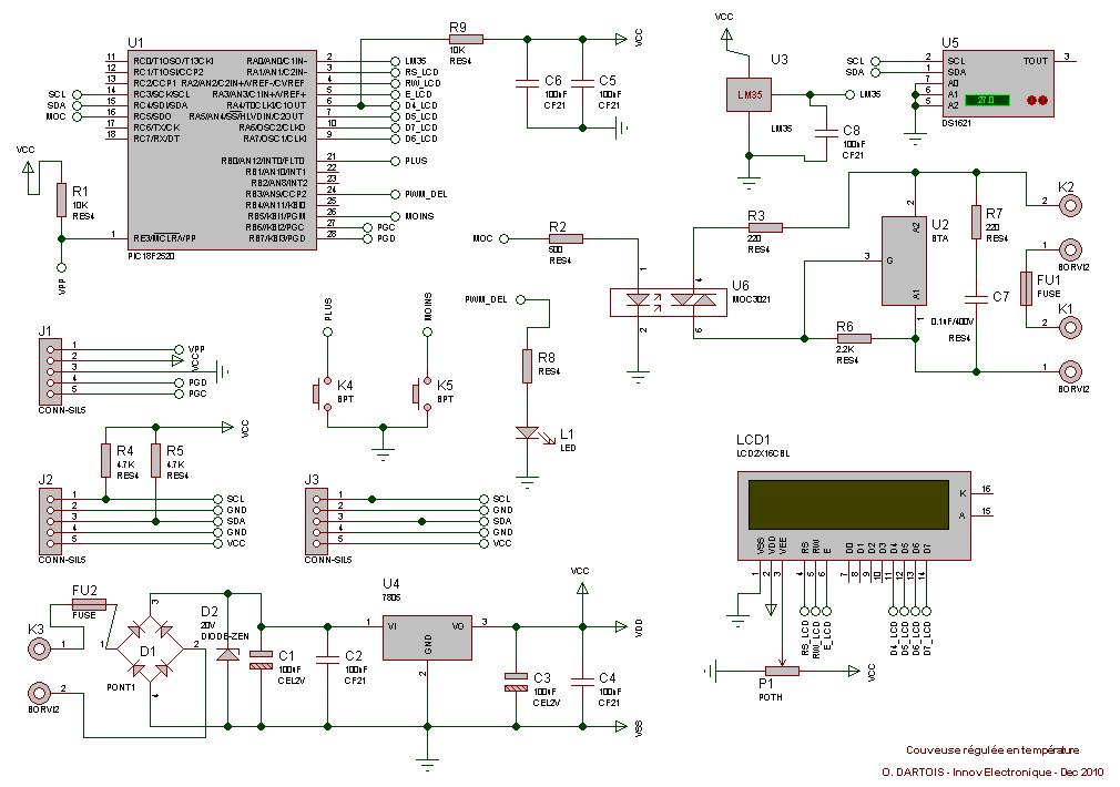 Schema capteur de temperature