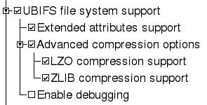 Paramètres Noyau pour UBIFS