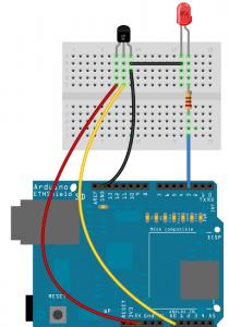 Cablage Ethershield - DEL - Capteur de température