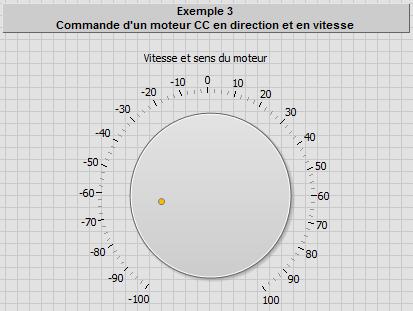 Exemple 3 - Commande Moteur CC - Face avant LabVIEW