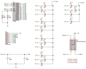 Schéma électrique - Encodeur lumineux