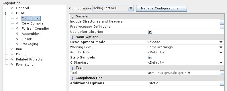 TestWiringPiStaticArmel_OptionCompilateurC